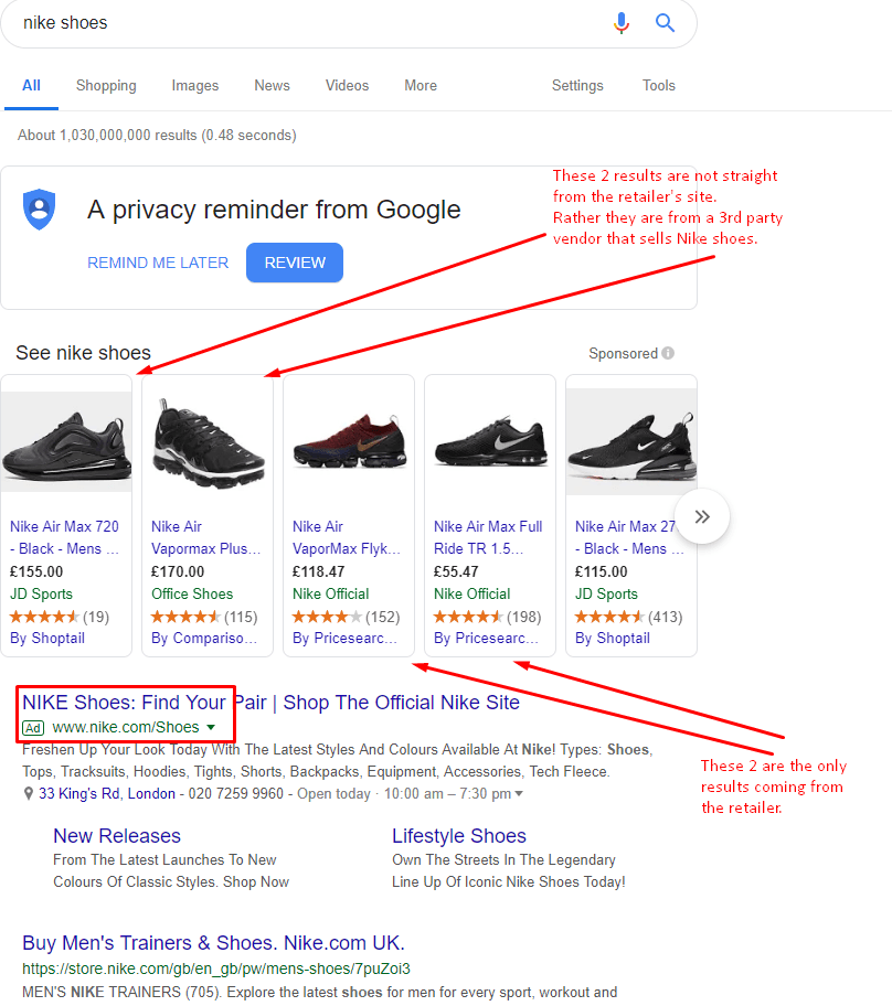"""Google's shift from """"move onwards"""" to """"Stay on SERP"""""""